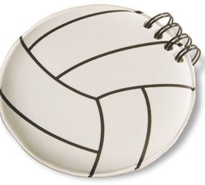 Authorized Retailer of Volleyball Round Notepad